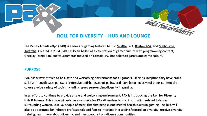"Illustration for article titled PAX Will Now Have ""Diversity Lounges"", Penny Arcade Says"