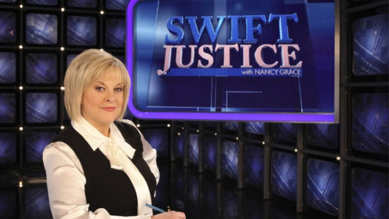 Illustration for article titled Nancy Grace to yell at people on shows other than Swift Justice