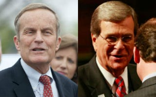 Todd Akin (Bill Clark/CQ-Roll Call/Getty Images);Trent Lott (Win McNamee/Getty Images)