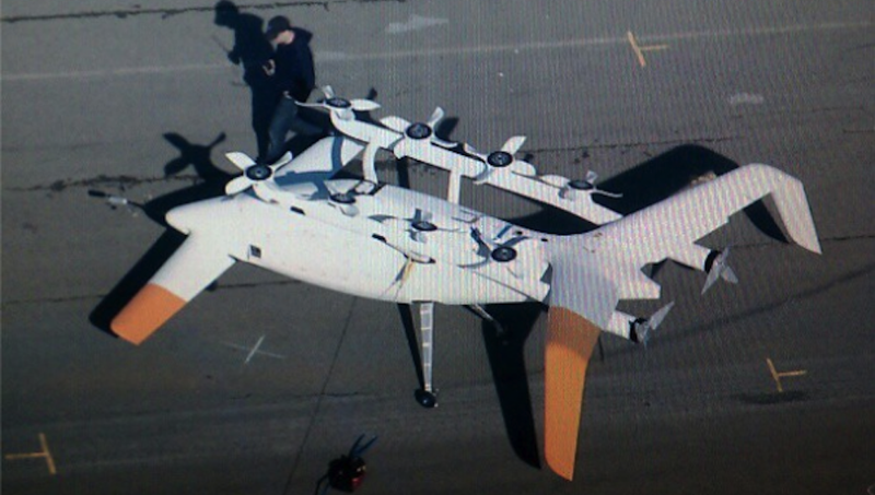 Illustration for article titled What Is This Bizarre-Looking Flying Machine Doing Near Google HQ?