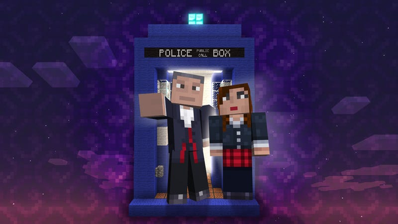 Illustration for article titled Minecraft-Doctor Who Partnership Results in Awful Pun