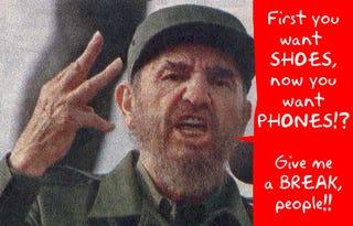 Illustration for article titled Castro Retires, Cuba Gets Cellphones