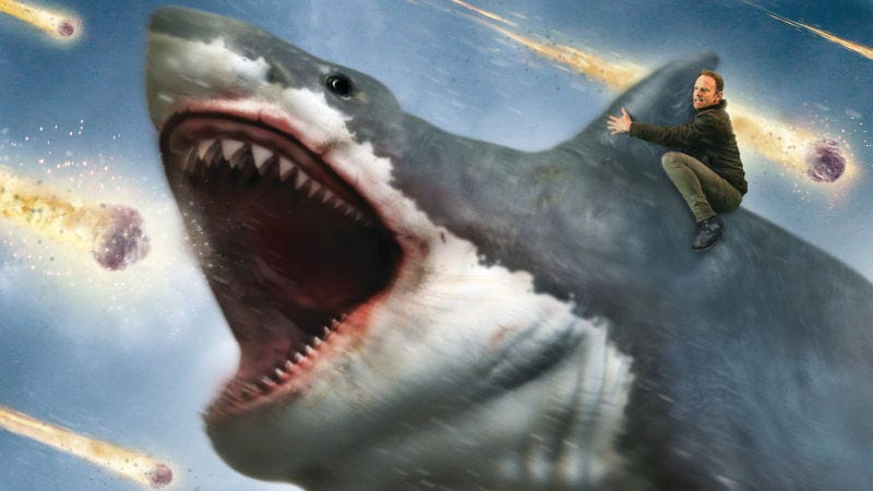 Illustration for article titled SyFy tweeted out the best parts ofSharknado 6so you don't need to watch it