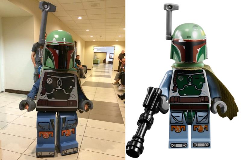Illustration for article titled Dad Builds His Son A Damn Impressive Lego Boba Fett Costume