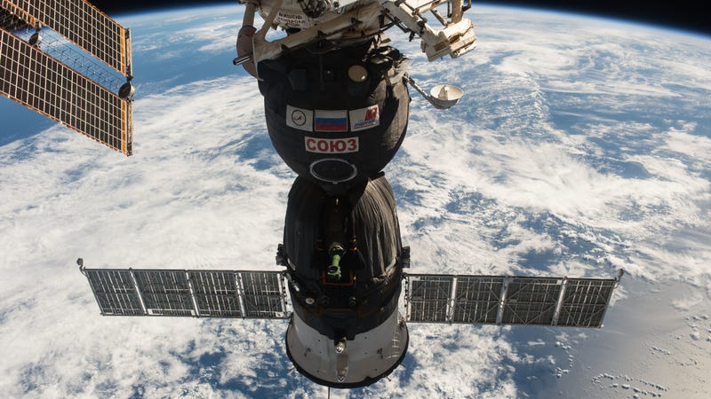 Soyuz MS-01 docked to the ISS in 2016