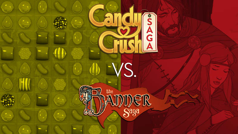 Illustration for article titled Why The Ridiculous Candy Crush vs. Banner Saga Conflict Is Happening