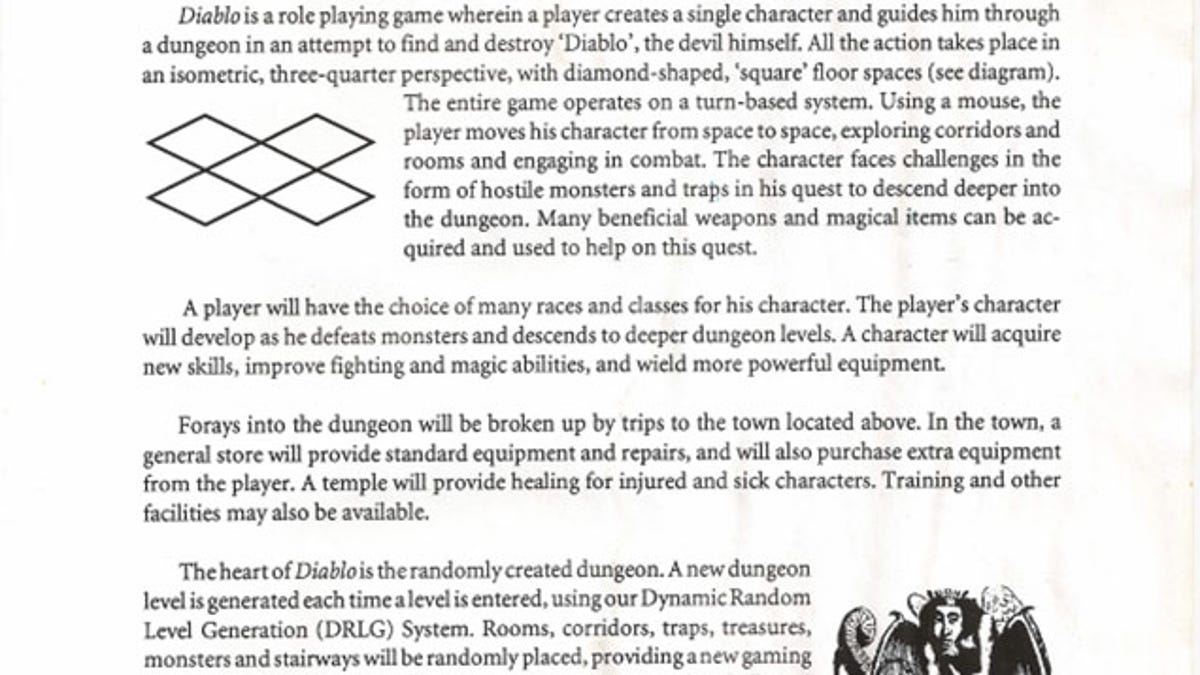 Read Diablos Original Pitch Document - Video game pitch document template