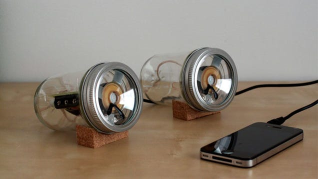all you need are two jars the speaker parts from radio shack and the ability to use common diy tools build diy mason