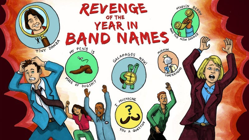 Illustration for article titled 2014: The (belated) year in band names