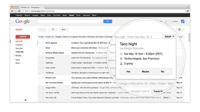 Illustration for article titled New Gmail Action Buttons Let You Perform Tasks From Your Inbox