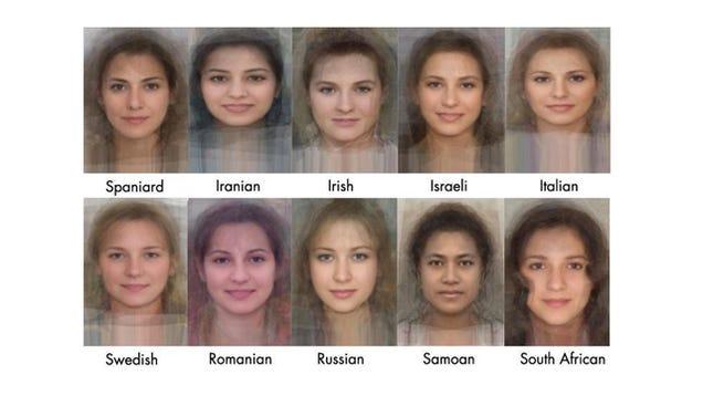 Se den gennemsnitlige Face af kvinder fra 40 forskellige lande-9762