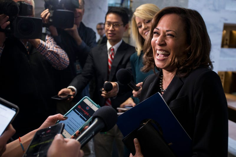 Illustration for article titled Kamala Harris Doesn't Yet Announce Presidential Run With New Book (but Hints as Subtly as a Semi-Truck)