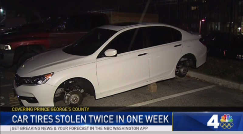 Illustration for article titled Wheel Thieves Steal Rims Off Honda Accord Twice In One Week