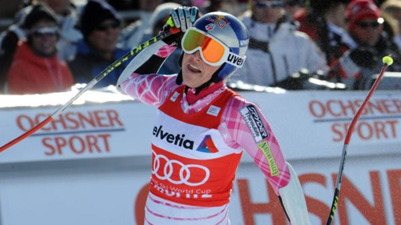 Illustration for article titled Lindsey Vonn Credits Success To Really Good Ski Poles