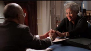 Henry Louis Gates Jr. with Donna Brazile  on PBS' Finding Your RootsPBS screenshot