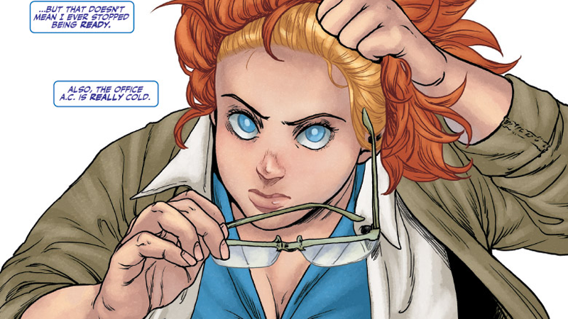 Faith is ready to stop hiding in a really cold office and start superheroing again in Faith: Dreamside.