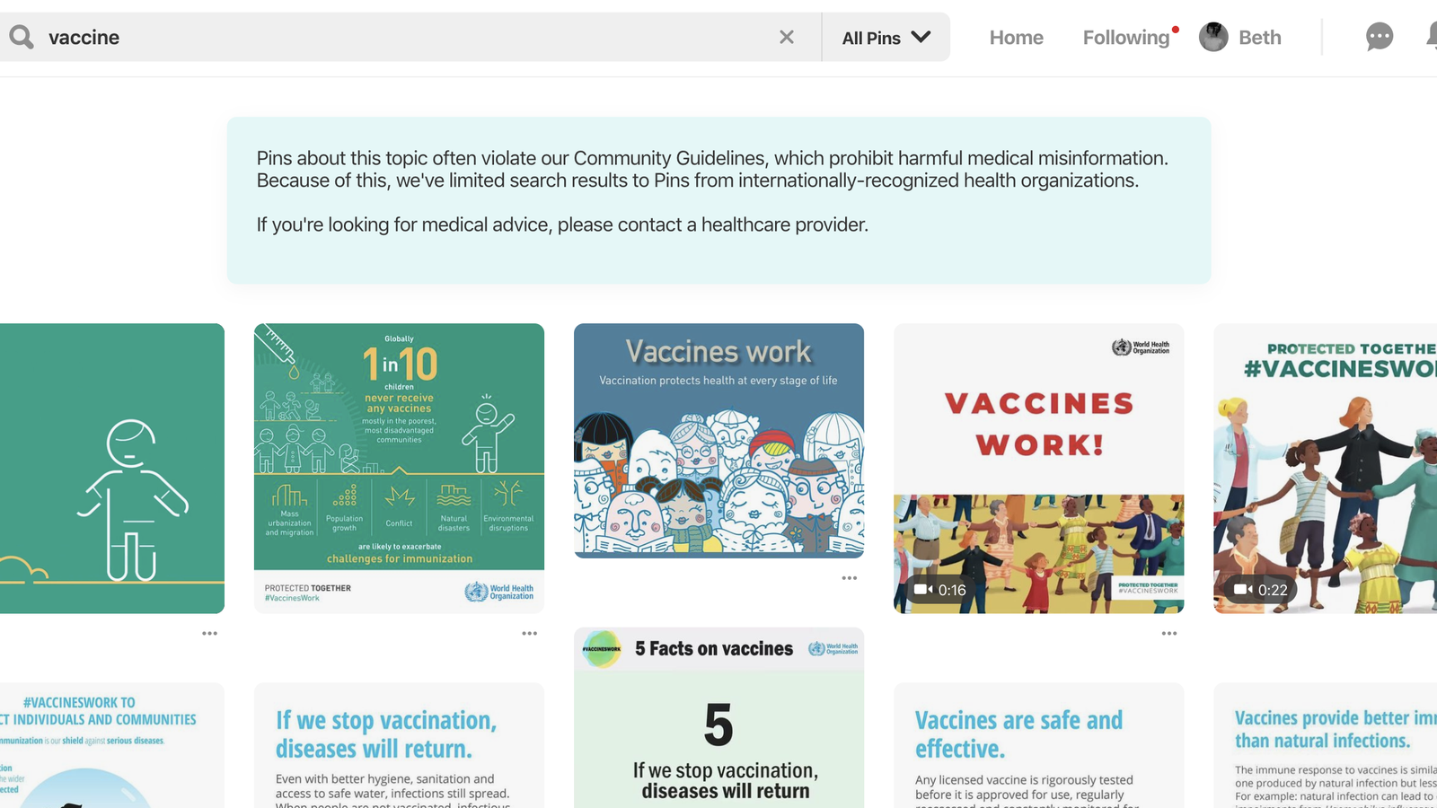 You Can Now Find Legit Vaccine Information on Pinterest
