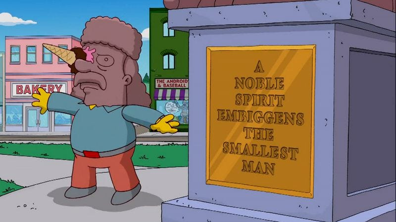 This plaque from The Simpsons is perfectly cromulent.