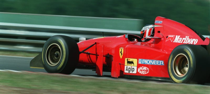 Gerhard Berger Qualifying At Hungary 94 Photo Credit Anton Want Allsport
