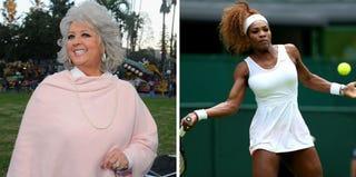 Paula Deen (Alberto E. Rodriguez/Getty Images); Serena Williams (Julian Finney/Getty Images)