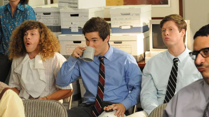 Illustration for article titled Workaholics ends its season as it must: With fears of impending apocalypse