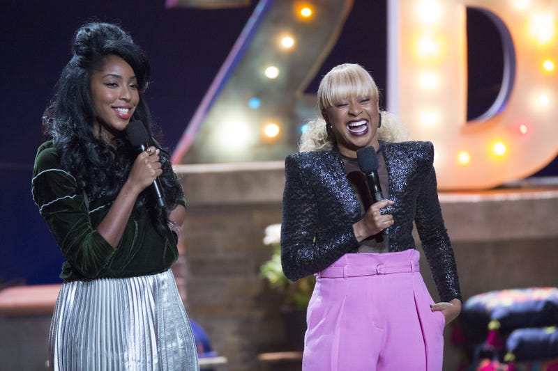 """Jessica Williams and Phoebe Robinson lead the """"Hair"""" episode of 2 Dope Queens (Photo: Mindy Tucker)"""
