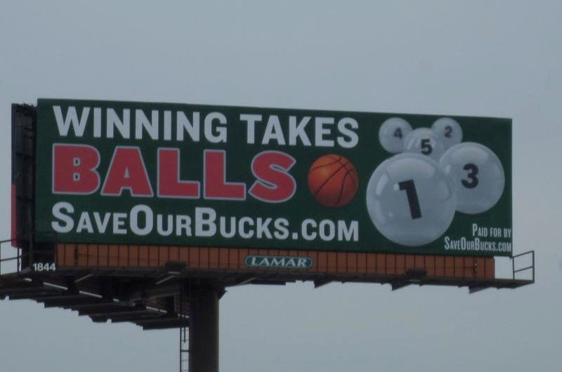 Illustration for article titled Bucks Fans Purchase Billboard Urging Team To Tank