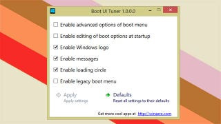 Illustration for article titled Boot UI Tuner Customizes Windows 8 Boot Menu Options