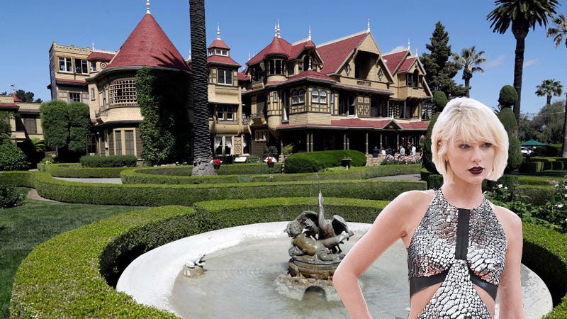 is taylor swift building her own winchester mystery house. Black Bedroom Furniture Sets. Home Design Ideas