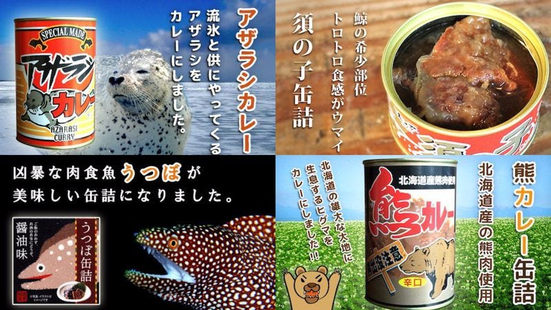 Illustration for article titled Stock up your winter pantry with Japanese sea lion and bear curry