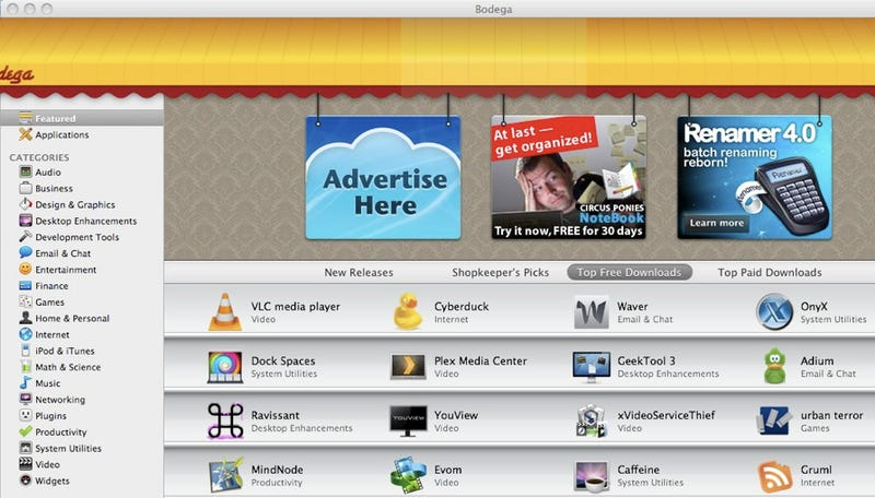 Illustration for article titled Bodega Is a One-Stop Shop for New Apps for Your Mac