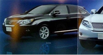 Illustration for article titled Brochure Scans Reveal 2010 Lexus RX350 And RX450h Ahead Of Schedule