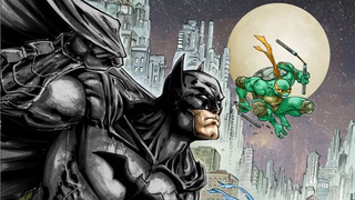 Illustration for article titled At Last, Batman Is Teaming Up With the Teenage Mutant Ninja Turtles