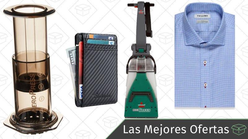 Illustration for article titled Las mejores ofertas de este viernes: Accesorios para hacer café, camisas a medida, carteras y más