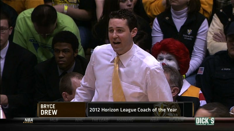 Illustration for article titled Ronald McDonald Loved Seeing Bryce Drew, But The Ole Miss Fan Sitting Next To Him Just Grimaced The Whole Game