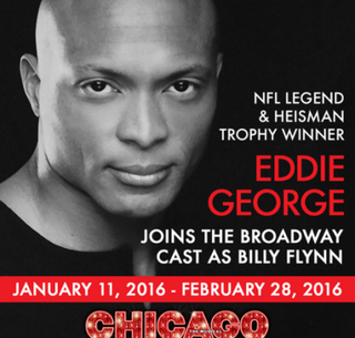 Eddie Geoge as Billy Flynn in ChicagoTwitter