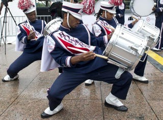 Drummers from Howard University's marching bandSAUL LOEB/AFP/Getty Images