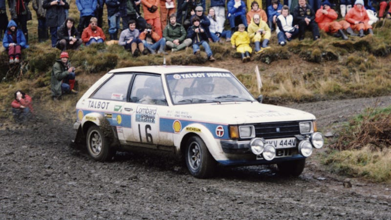 Henri Toivonen wheels his Talbot in the 1980 RAC, the year before the car won the manufacturer's title in the WRC. Photo: Getty Images