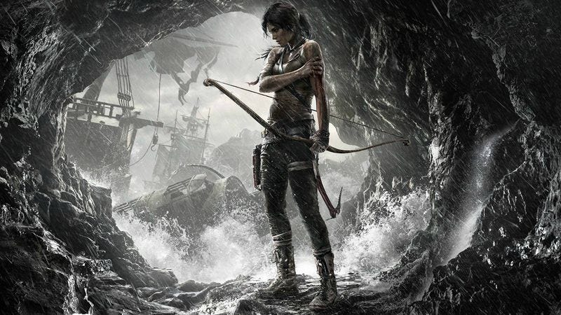 Lara Croft in promotional art for the 2013 Tomb Raider reboot