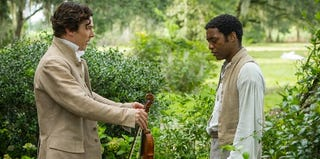 Chiwetel Ejiofor (right) as Solomon Northup in 12 Years a Slave (courtesy of Fox Searchlight)