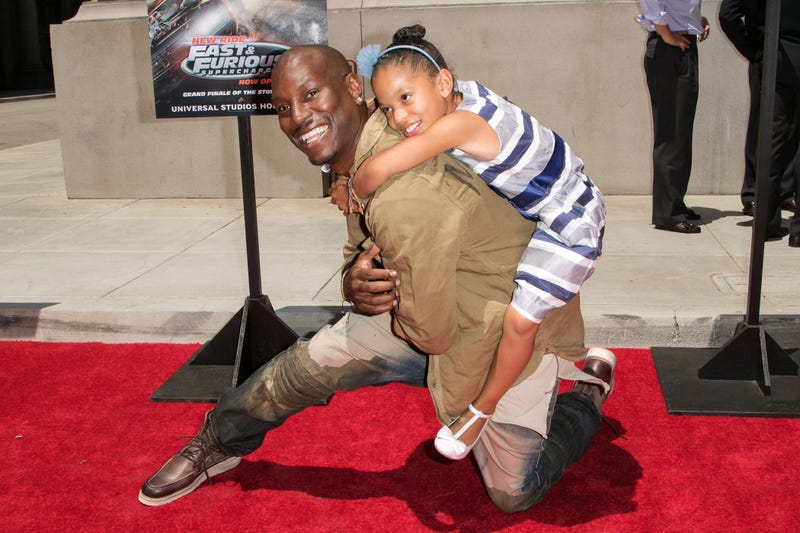 Tyrese Gibson and daughter Shayla Somer Gibson on June 23, 2015, in Universal City, Calif. (John Salangsang/Invision/AP Images)