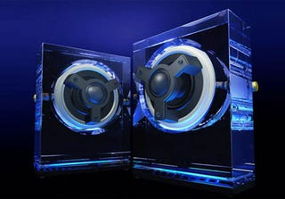 Illustration for article titled Kenwood's Glass Speakers Are Perfect for an Audiophile's Seppuku
