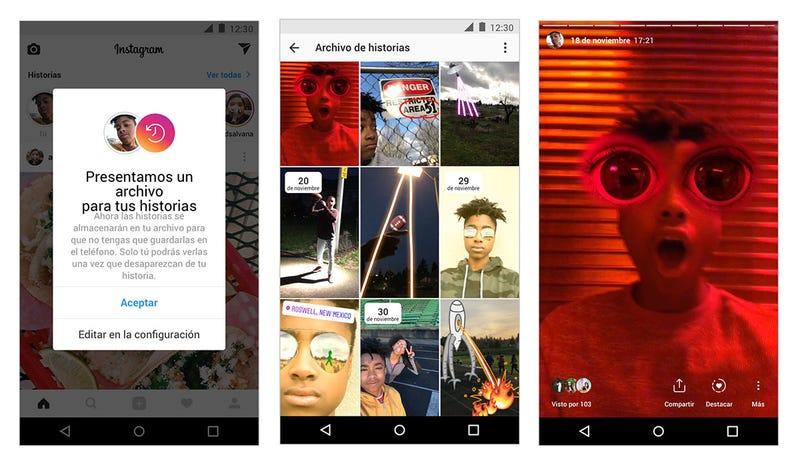 Illustration for article titled La nueva versión de Instagram guardará las historias de forma automática y permitirá compartirlas de nuevo