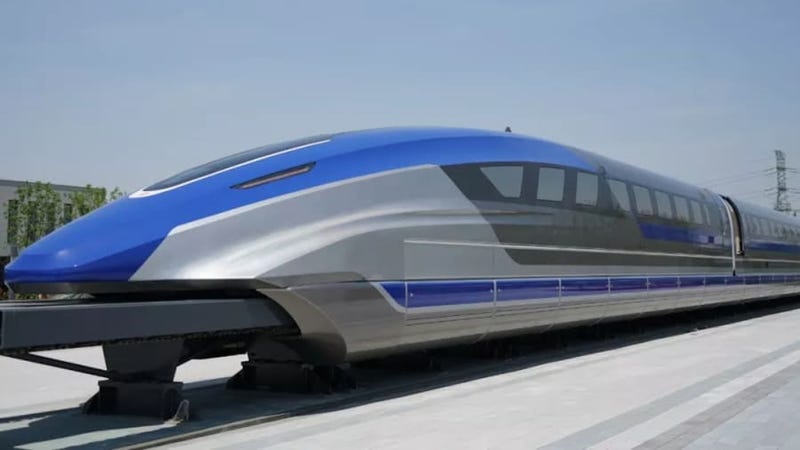 Illustration for article titled China trabaja en un tren de levitación magnética que viajará a 600 kilómetros por hora