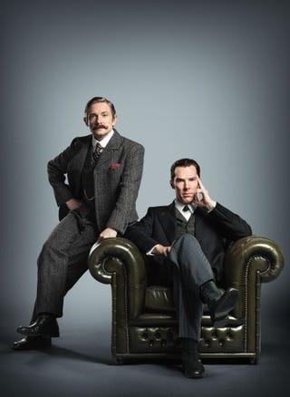 Illustration for article titled Behold Martin Freeman's Glorious Sherlock Moustache