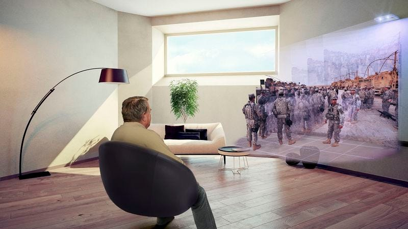 Illustration for article titled Dad From 2150 Can't Get Enough Iraq War Documentaries