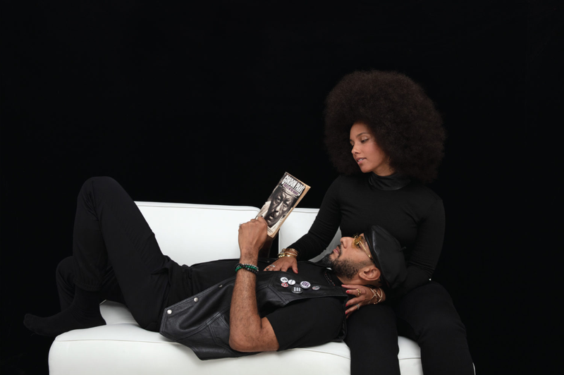 Illustration for article titled Alicia Keys and Swizz Beatz on Cover of Cultured Magazine as a Black Panther Power Couple