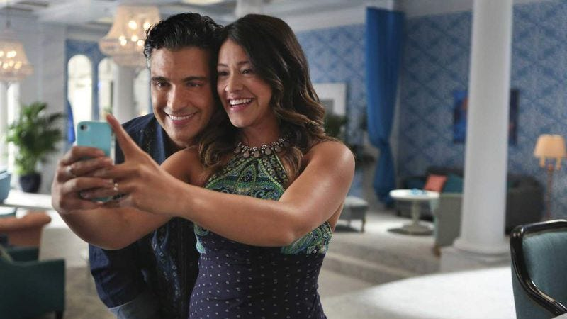 Camil with co-star Gina Rodriguez