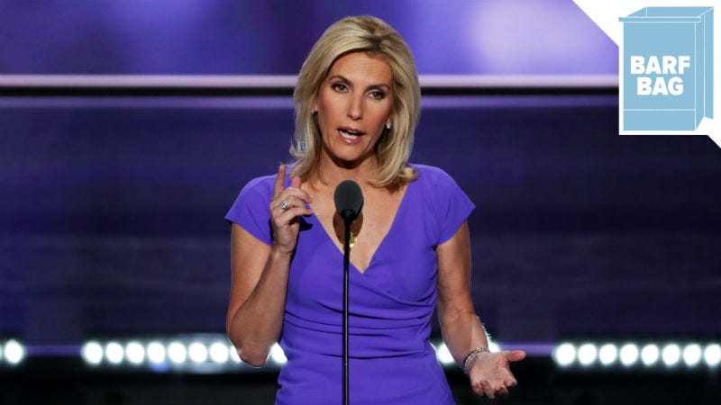 Illustration for article titled Laura Ingraham Makes Important Distinction: She Is NOT Aligned With White Supremacists