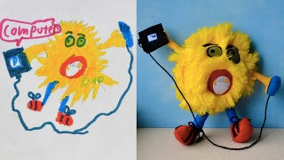 Illustration for article titled Children's drawings come to life as delightfully weird toys